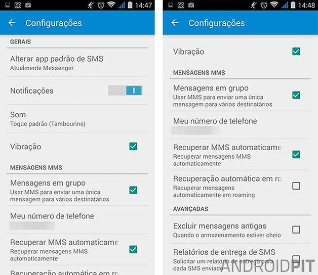 messenger google app configuracoes