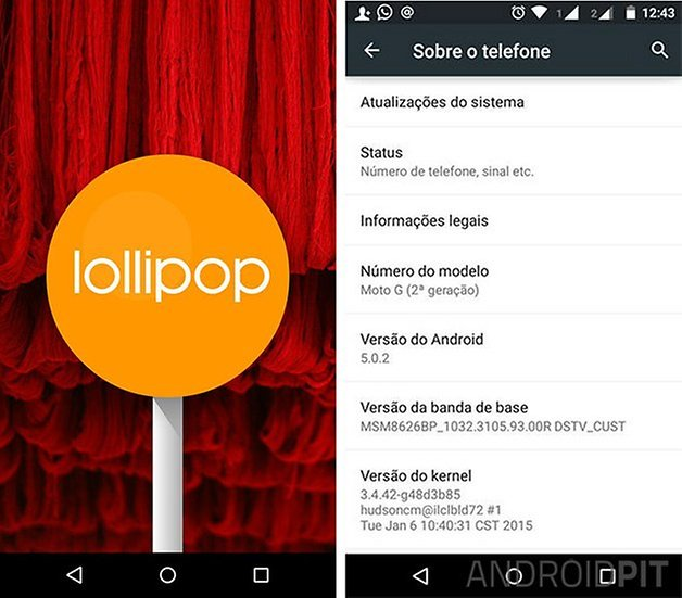 moto g 2014 android lollipop