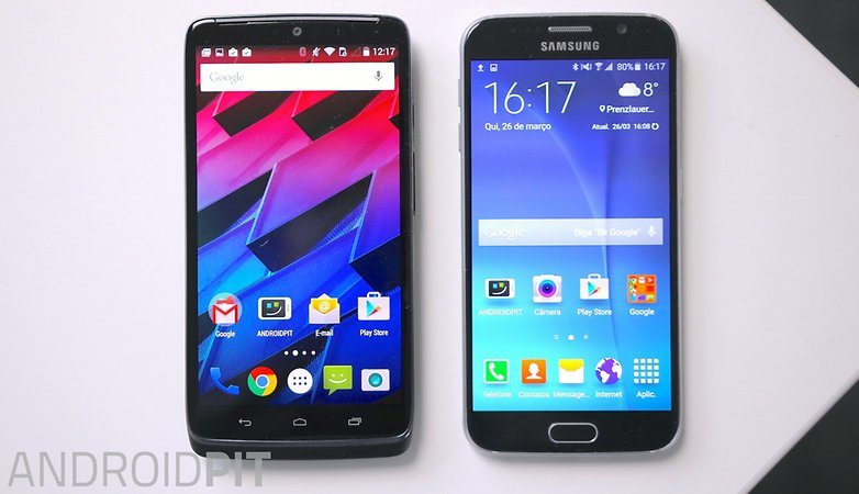 motomaxx vs galaxy s6 front screen