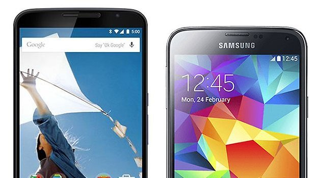 nexus 6 galaxy s5 comparison