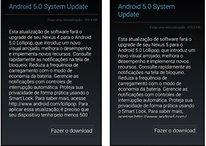 Dispositivos Nexus começam a receber atualização OTA para Android 5.0 Lollipop no Brasil