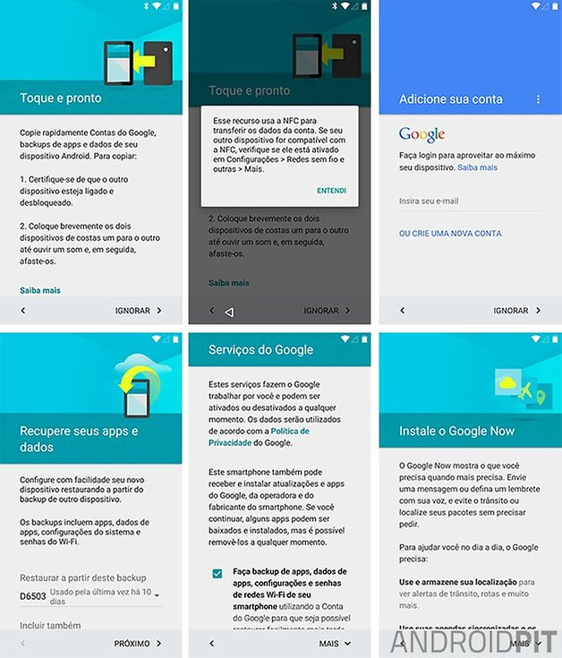primeiras configuracoes android l