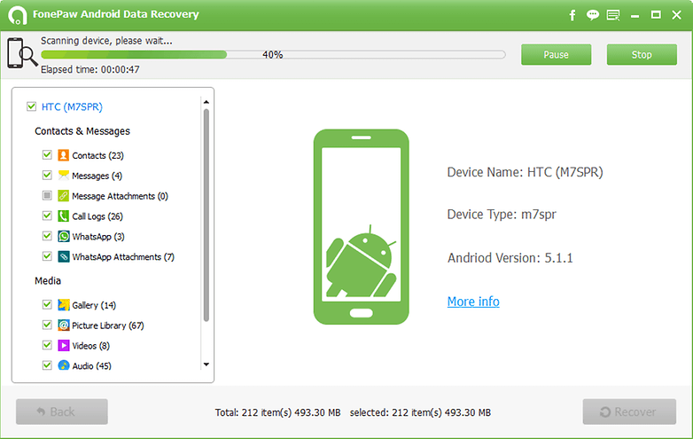 scanning android device