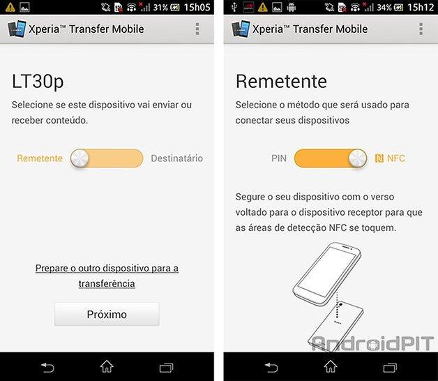 sony transfer xperia app