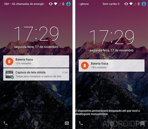 tela bloqueio android lollipop smart lock icone