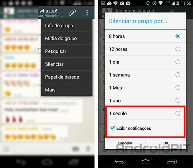 whatsapp atualizacao silenciar grupo