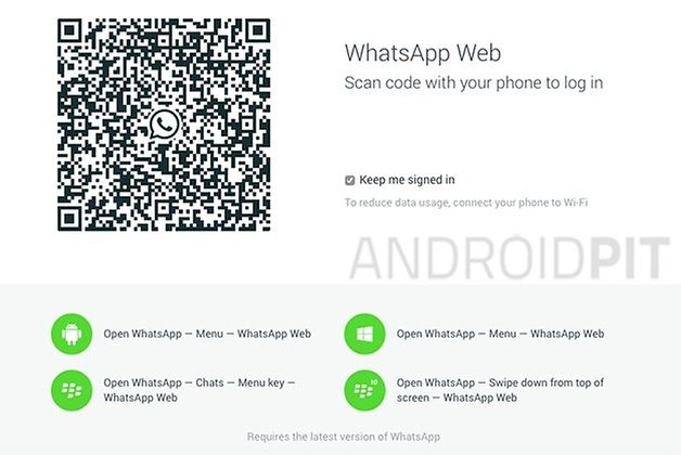 whatsapp web page