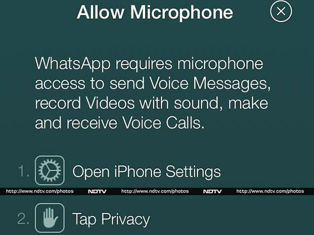 whatsapp iphone voice calling