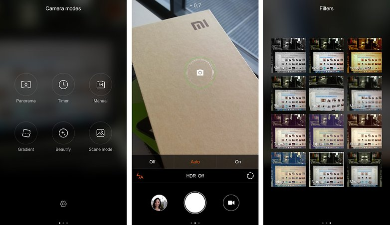 redmi note 2 camera UI