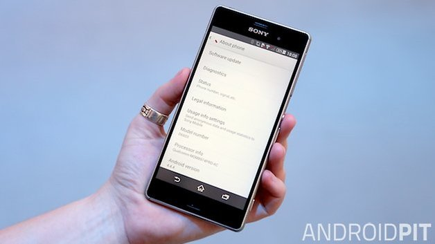 xperia z3 settings