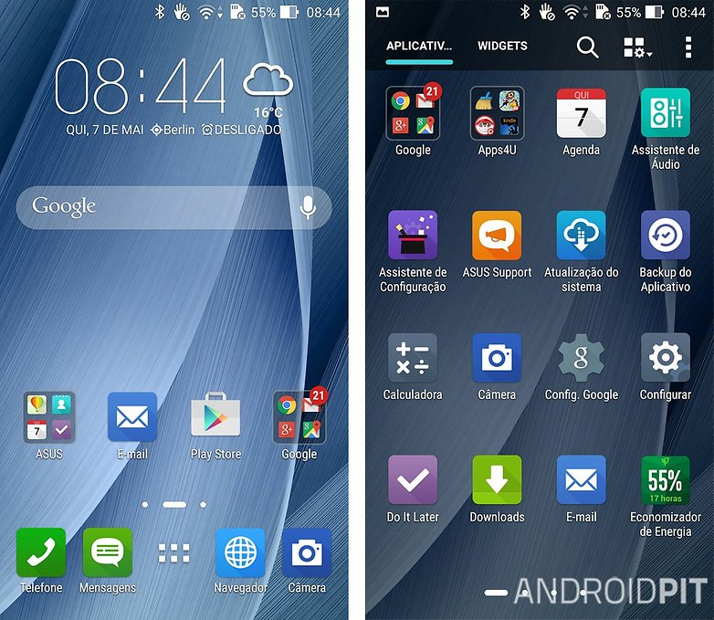 zenfone 2 UI software apps