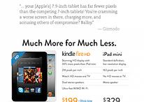 """""""Mucho más por mucho menos""""- Amazon ataca sin rodeos al iPad Mini"""