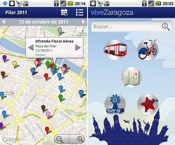 aplicaciones pilar zaragoza