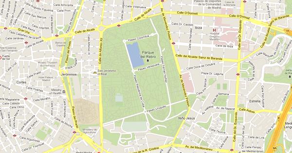 Google maps actualiza sus mapas de espa a con todo detalle for Google jardin