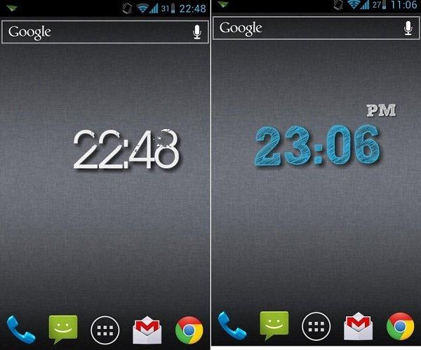 mejores widgets reloj