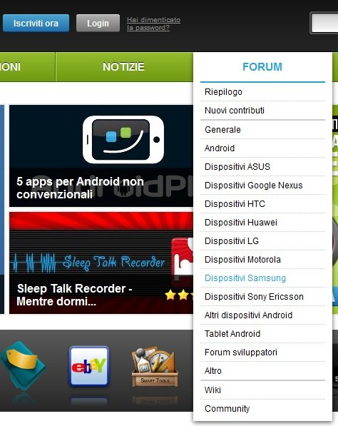 androidpit menu nuovo