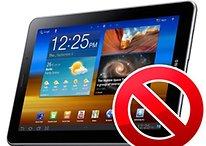 Galaxy Tab 7.7: blocco delle vendite in Europa