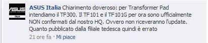 asus italia fb