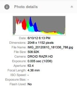 EXIF foto droid razr hd