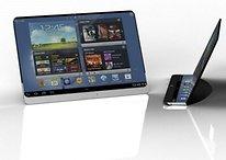 Il tablet flessibile di Samsung in un render