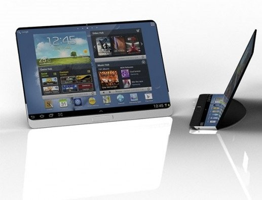 Samsung flex tablet render