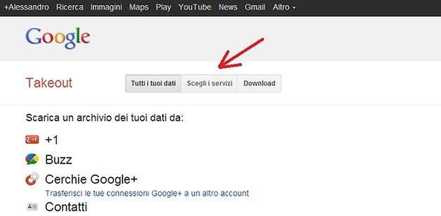 esportare feed google reader