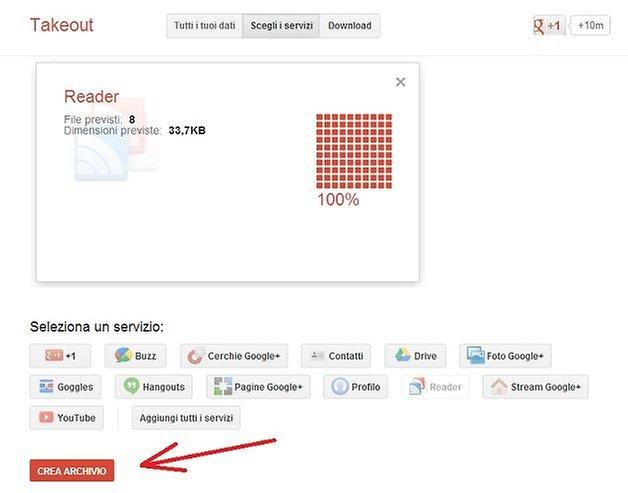 esportare feed google