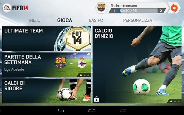 fifa 14 android menu