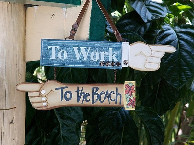 lavoro vacanza smartphone