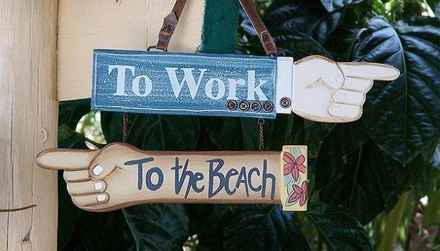 Tablet e smartphone e si lavora anche in vacanza