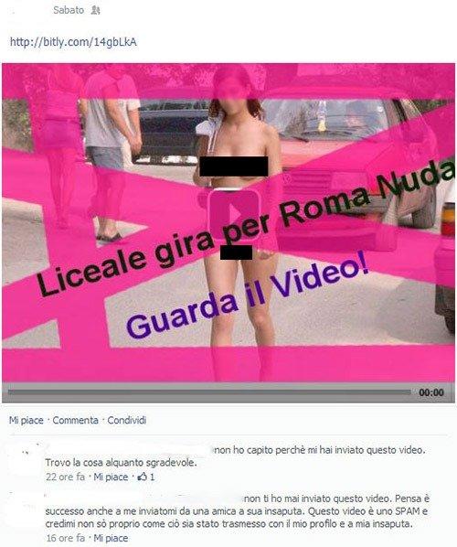 liceale nuda virus facebook