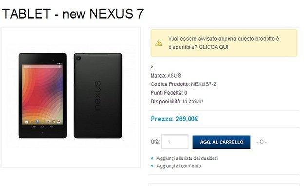 prezzo nexus 7 2 italia