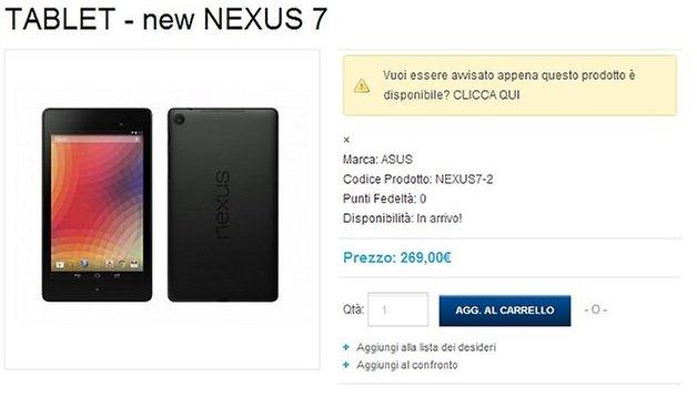 Nexus 7 2, ecco prezzo e disponibilità in Italia