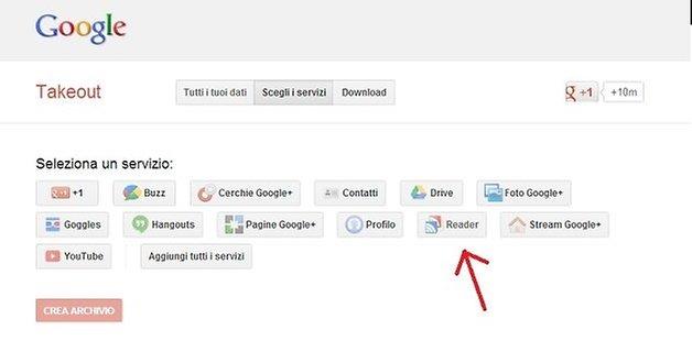 salvare feed google reader 2