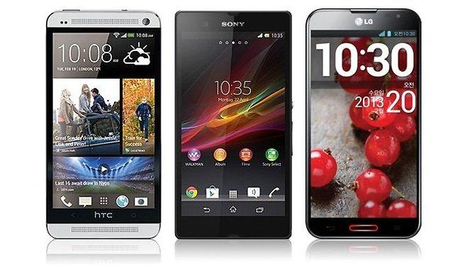 HTC One Vs Xperia Z Vs Optimus G Pro: le specifiche