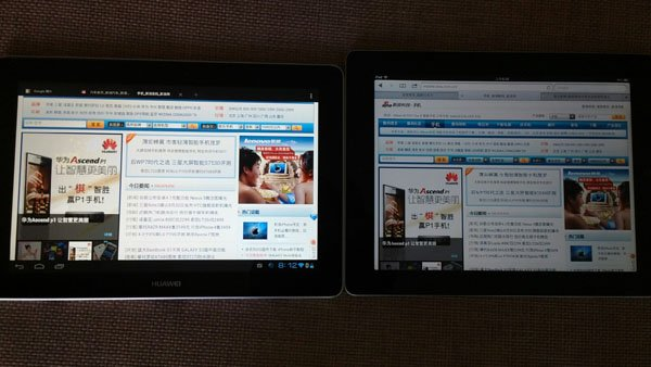 Huawei Media Pad 10 FHD vs iPad