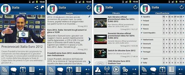 italia euro 2012 app