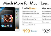 Amazon: Kindle Fire HD meglio dell'iPad mini e la gente lo sa