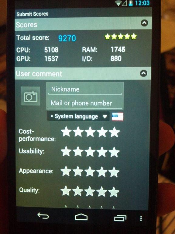 nexus 4 benchmark