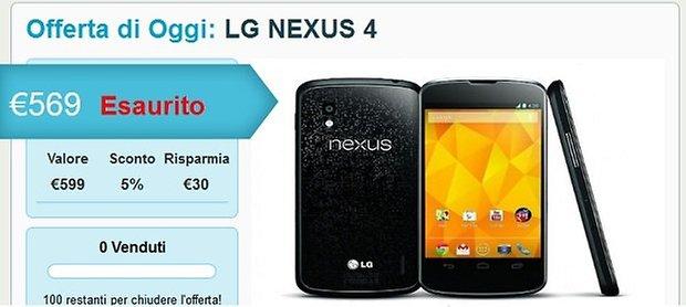 nexus 4 esaurito
