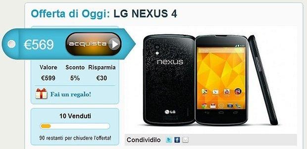 nexus 4 italia shop