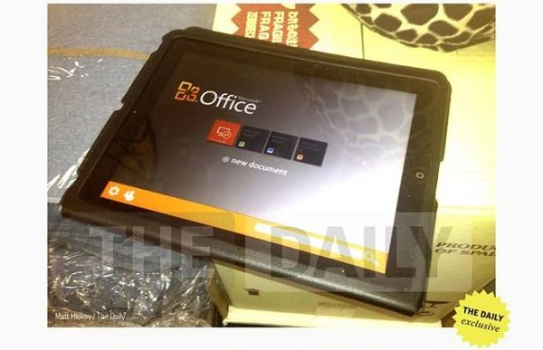 MS office per tablet