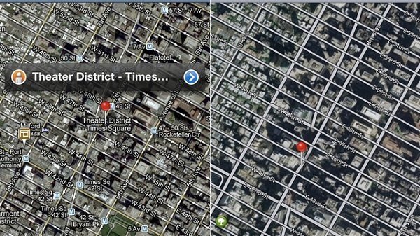 apple maps coptro google maps satellite