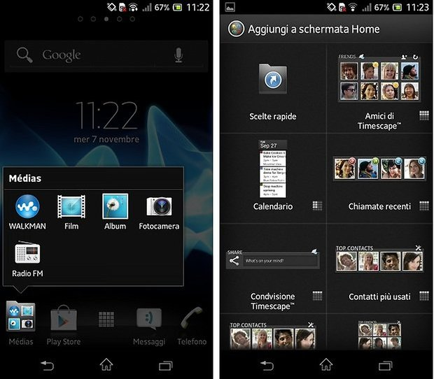xperia t screenshot