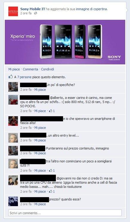 sony miro fb