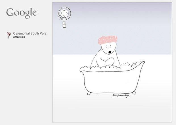 google maps antartida