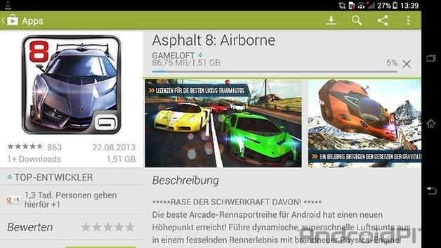 asphalt 8 airborne play store