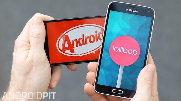 AndroidPIT Galaxy S5 Lollipop KitKat