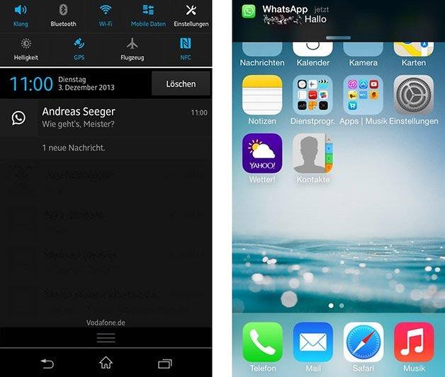 Benachrichtigung Android iOS