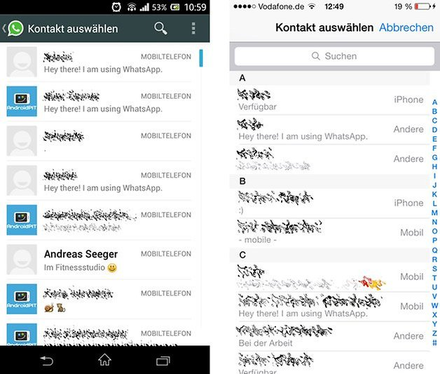 Chat starten Android iOS
